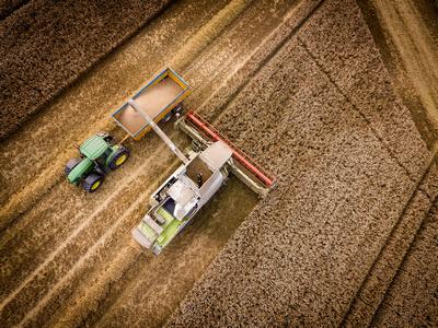 Combine Harvester in Shropshire